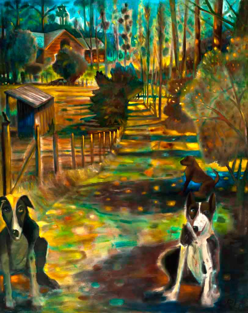 Three Dogs on a Country Lane, 2010