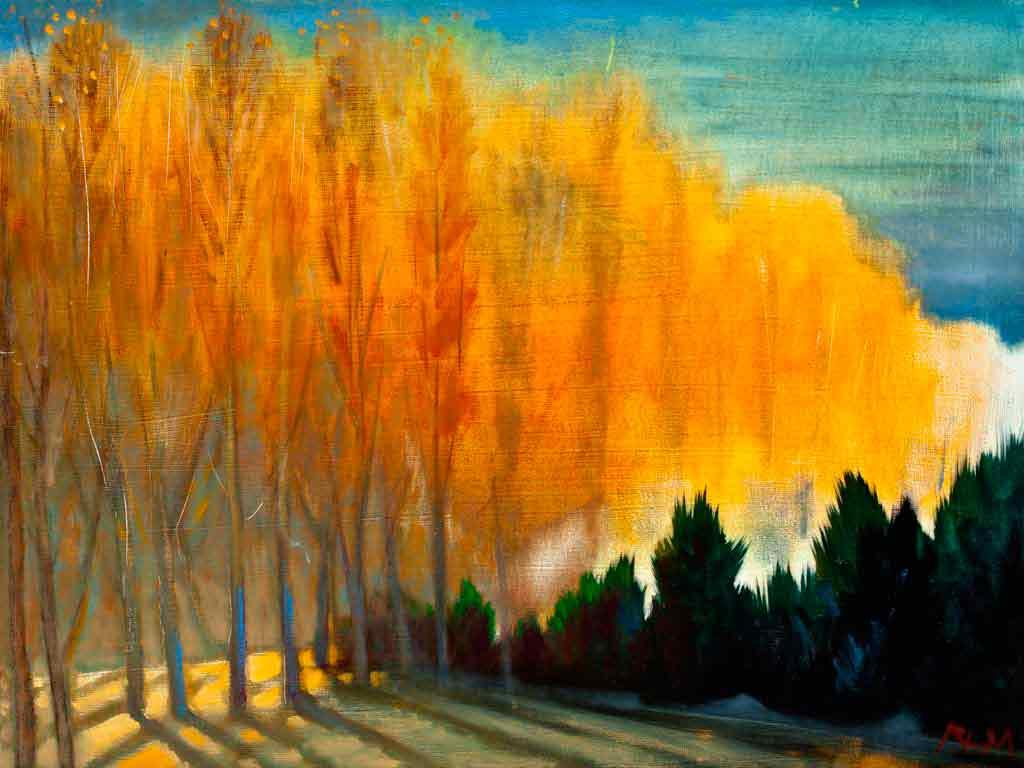 Winter Poplars, 2013