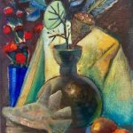 Still Life with Shell and Blue Vase